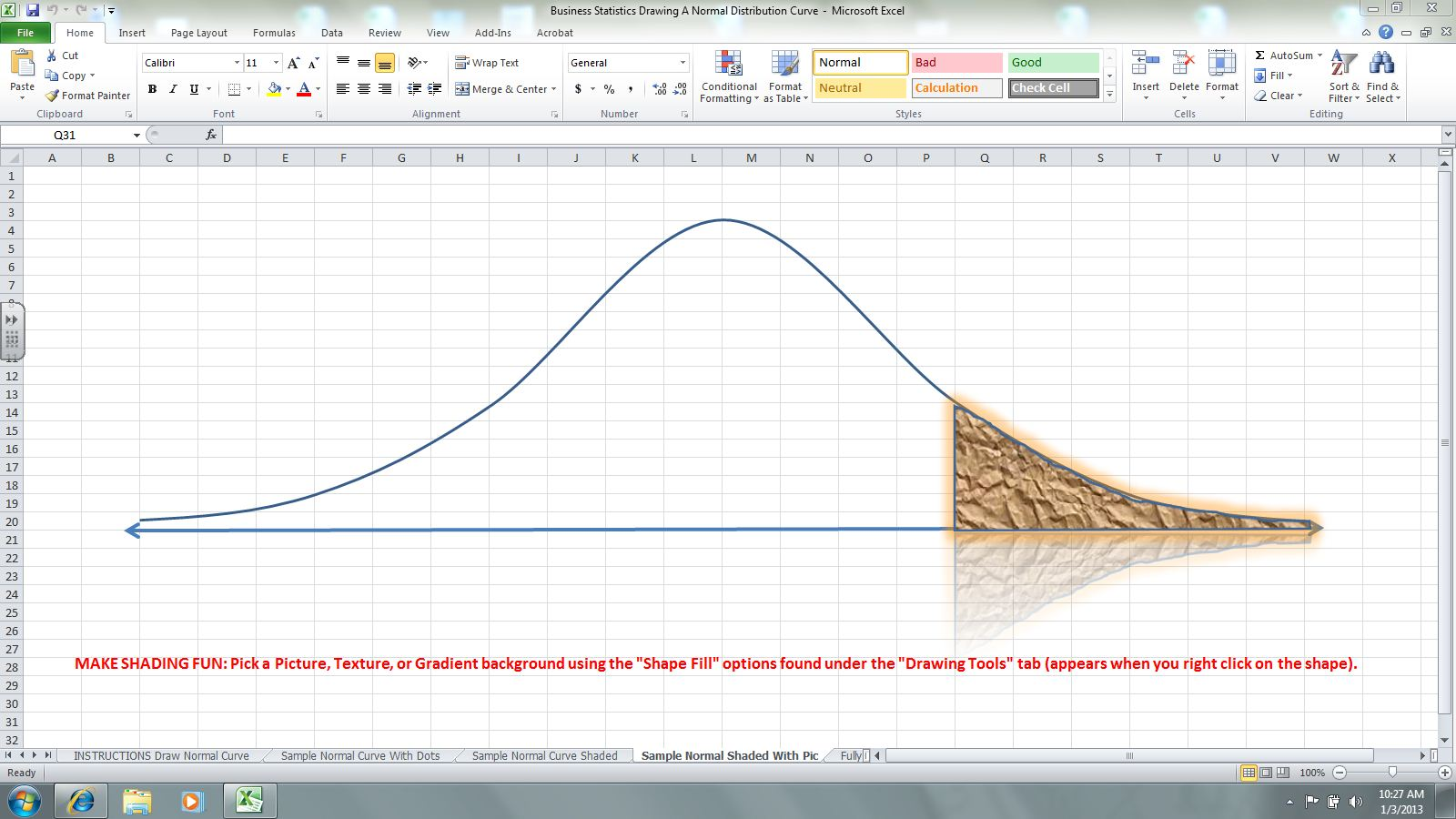 PROJECT #5 NORMAL PROBABILITY DISTRIBUTIONS   MR  NELSON'S